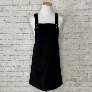 Forever 21   Black Suede Overall Dress